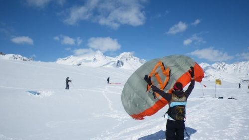 snowkiting school flymountains